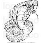 dfaea-royalty-free-stock-logo-of-a-black-and-white-venomous-cobra-snake-by